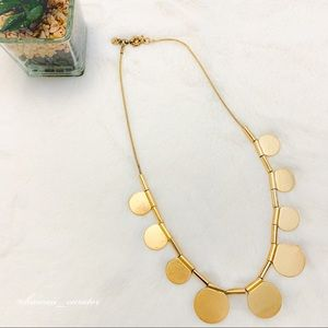 Madewell Round Medallion Statement Necklace